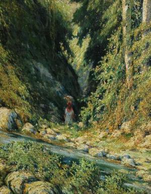Bosque y riachuelo, de Antonio Rodriguez Morey
