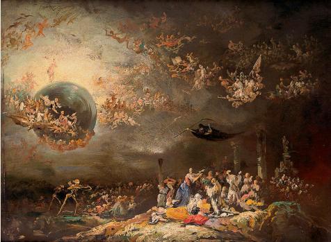 Visión satírica del juicio final, de Eugenio Lucas Velázquez