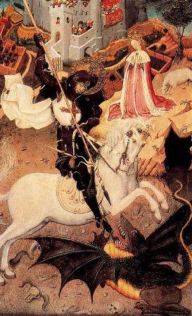 San Jorge dando muerte al dragón, de Bernardo Martorell
