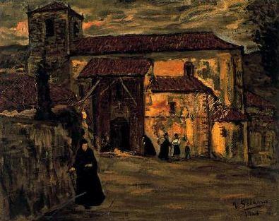 Iglesia de aldea, de José Gutiérrez Solana