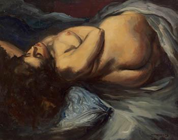 Mujer desnuda recostada, de Pere Creixams Picó