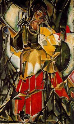 Mujer con abanico, de María Blanchard