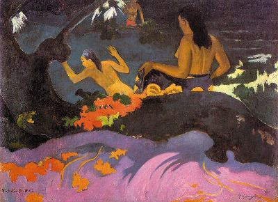 Cerca del mar, de Paul Gauguin