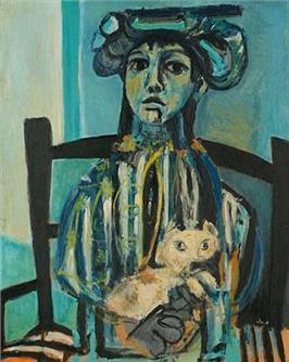 Niña con gato, de Antoni Clavé