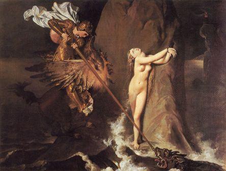 Roger liberando a Angélica, de Jean Auguste Dominique Ingres