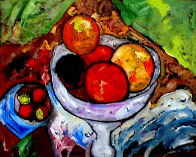 Bodegón con frutas, de Ernesto León