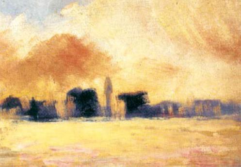 Casas lejanas vagas (detalle), de José María Eguren