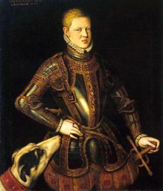 Retrato del rey Sebastián I, de Cristóvão de Morais