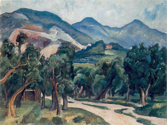 Camino a Apuane, de Raffaele De Grada