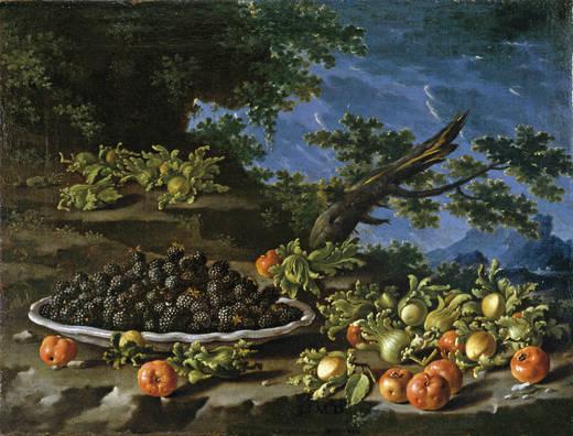 Bodegón con frutos del bosque, de Luis Egidio Meléndez