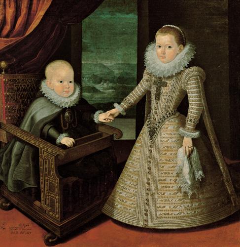 Los infantes don Felipe y doña Ana, de Juan Pantoja de la Cruz