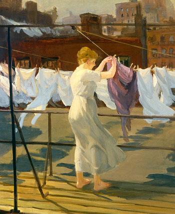 Sol y viento en la azotea, de John Sloan