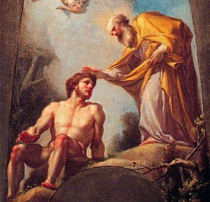 La creación de Adán, de Francisco Bayeu
