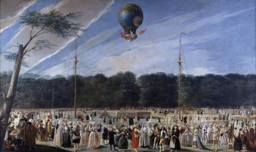 Ascensión de un globo Montgolfier en Aranjuez, de Antonio Carnicero