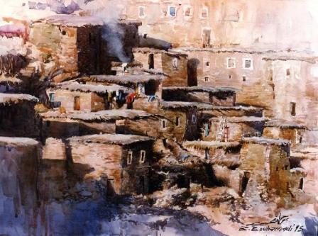 Pueblo de adobe, de Brahim Bouhammadi