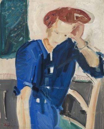 Mujer sentada, de Jakob Weidemann