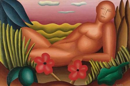 Desnudo recostado, de Manuel Rendón