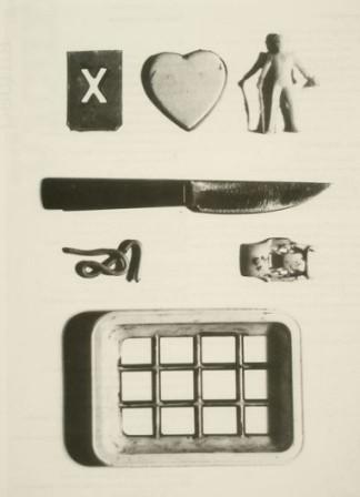 Poesía visual de Gonzalo Millán, aparecida en la revista El espíritu del valle, 1998