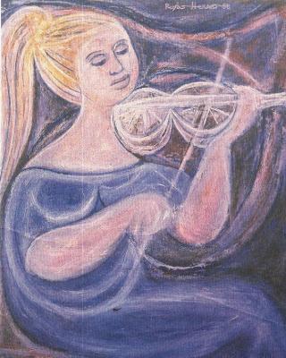 Mujer con violín, de Héctor Rojas Herazo