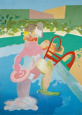 Sin título, de Carlos Alcolea (Serie Greta Garbo. Desnudo en la piscina)