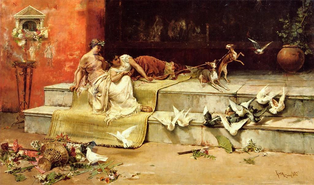 Las damas romanas, de Juan Luna