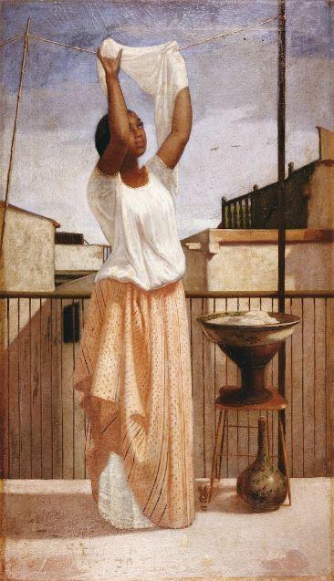 La lavandera, de Francisco Laso de los Ríos